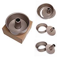 Круглый еды для кекса олова формы выпечки лоток из углеродистой стали антипригарным инструмент выпекание