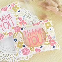100шт спасибо стиль венчания рождества подарка мыла мешки для упаковки конфеты печенье мешки выпечки пакет 1TopShop