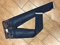 Стильные женские  молодежные джинсы варенка с поясом царапки