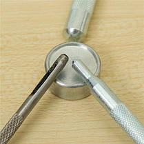 4шт металлические проушины установка перфоратор кнопка кожа ремесло поделок инструменты, фото 3