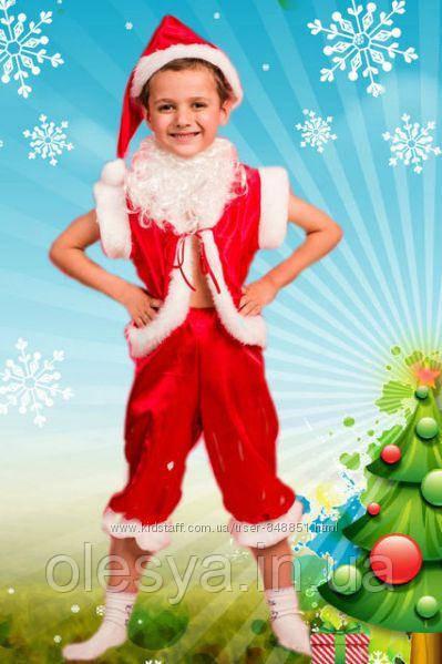 Детский новогодний костюм Гномик красный