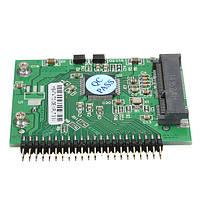 Msata мини-PCI-E SSD к 1.8inch 44 контактный IDE адаптер жесткого диска конвертер карты борту