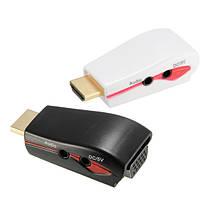 1080P HD Мультимедийный интерфейс Мужской к VGA Женский адаптер видео конвертера с USB-кабелем питания, фото 2