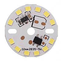 Затемняемый 5w 32мм СМД 2835 алюминий LED Панель печатной платы шарика светильника чип AC220V