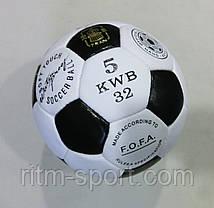 М'яч футбольний Official №5 (4 шару, ручна зшивання), фото 2