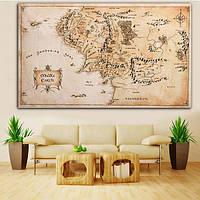 110x60cm карта Средиземья Властелин колец шелковой ткани плаката домашнего декора