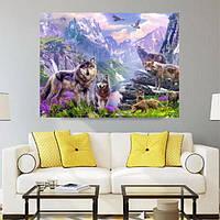 40x35CM Волки 5D Алмазное Картина Вышивка DIY Craft Home Decor