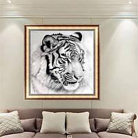 12x12 дюймов Черно-белый тигр 5D Алмазный Картина Вышивка DIY Craft Home Decor