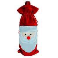 Красные крышки бутылки вина мешки рождественский ужин украшение стола домашняя вечеринка декоры Санта Клаус