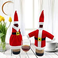 Рождество Санта-Клаус красное вино крышка бутылки завернуть рождественской вечеринке обеденного стола декор крышки сумки домашней вечер