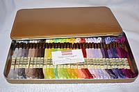 Подарочный набор новых номеров мулине DMC (№1 - №35) в жестяной коробке, фото 1