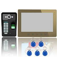Прикоснитесь к кнопке 10 ЖК-отпечатков пальцев видео домофон внутренней связи 1000tvl SY1001A-MJF11 камера IR Эннио