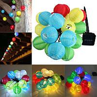 Питанием от солнечных батарей 30 LED фонарь фея свет шнура Xmas венчания светильник сада домашнего декора 1TopShop