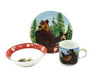 Набор детский фарфоровый 3пр. Маша и медведь С199