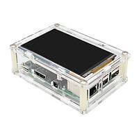 2b + комплект кейс акрил соответствующий TFT дисплей экран 800x480 для Raspberry geekwrom HD 3.5 дюйма 3B Пи