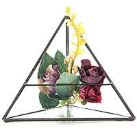 15см треугольник парникового стекло террариума поделки микро пейзаж суккулентных растений цветочный горшок