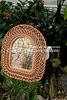 Зеркало плетеное из лозы