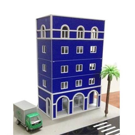 1/87 хо железнодорожных современный синий зданий Запределье моделей для Gundam здания, фото 2