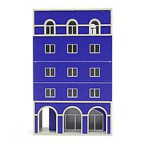 1/87 хо железнодорожных современный синий зданий Запределье моделей для Gundam здания, фото 3