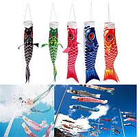 40 см многоцветная koi nobori Карп ветер носок коинобори рыбы кайт флаг висит декор