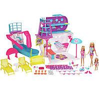 Игровой набор Барби Корабль с 3 куклами и 28 аксессуарами Barbie Cruise Ship Playset with 3 Dolls, фото 1