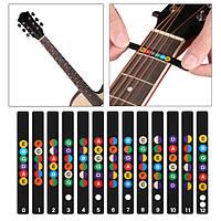 Guitar Fretboard Note Decal Finger Board Музыкальная Шкала Карта Наклейка для практики