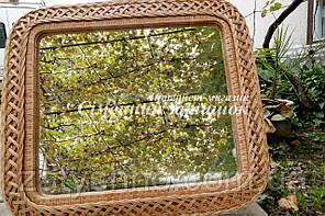 Зеркало из лозы прямоугольное