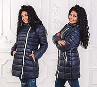 Зимняя женская куртка холлофайбер до больших размеров 2951 в расцветках