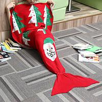 180x90cm Рождественский подарок пряжи вязание хвост русалки одеяло кондиционер теплой постели мат