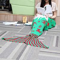 140x70cm пряжа вязание хвост русалки одеяло рождественский подарок на день рождения одеяло кровать коврик сна мешок