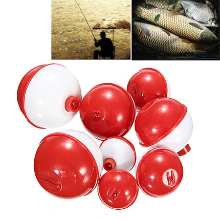 ZANLURE 8шт/Много различных размеров Рыбалка Поплавок Поплавок Круглый Combo снасть Ассортимент, фото 2