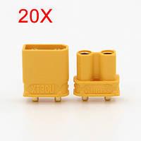 20X Amass XT30UPB XT30 УПБ разъем 2 мм Мужской Женский штепсельные разъемы для печатных плат