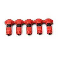 5 штук электрический Скотч быстродействующим запором для сращивания проводов соединители клеммы обжимного 24-18awg