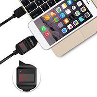 ONTEN 2.1a микро USB 1.2м / 4ft смарт напряжение постоянного тока LED дисплей Nylon кабель в оплетке - 1TopShop