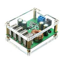 DC-DC шаг вниз модуль большой регулятор мощности преобразователь с 4 USB интерфейс ввода 7В-60V выхода 5v / 5a автоматической идентификации быстро