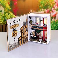 Hoomeda b005 лето в прага кафе 20.5 * 7 * 15.2 см поделки кукольный коробка коллекции театральных подарок малышей