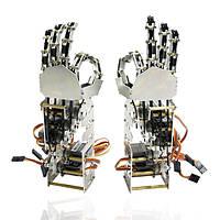 Поделки 5dof робот пять пальцев металла рука манипулятора левой и правой рукой QDS-1601