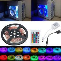 0.5/1 / 1.5 / 2m RGB 5050 16 цветов LED полоса шасси компьютера фары + пульт дистанционного управления