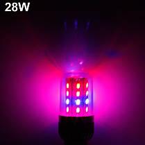 ZX LED Растения растут колбы лампы сад парниковых Завод рассада свет E27 360 градусов 28W 54W 60W, фото 3