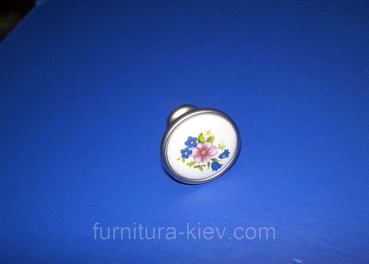 РУЧКА керамика кнопка K-301 G6/01W , фото 1