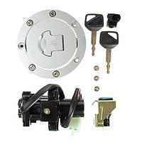 Выключатель зажигания двигателя ключ крышка топливного бака газа сиденья замком для Honda CBR900RR cbr929 2000-2001 годы