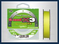 Шнур YGK G-soul X3 - 100m #1,5/25lb ц:светло-жёлтый