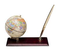 Глобус настольный Bestar c ручкой, красное дерево 95 мм англ яз