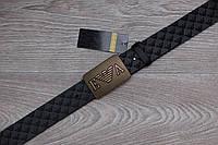 Ремень Armani кожа черный, унисекс (мужской,женский)