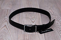 Ремень Armani кожаный черный, унисекс (мужской,женский)