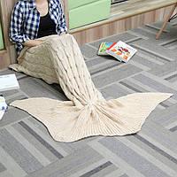60x160см 3 цвет пряжи вязание хвост русалки одеяло нагреться супер мягкой постели мат мешок сна подарок на день рождения