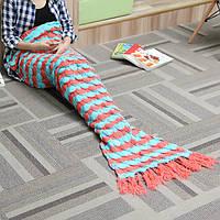 180x90cm пряжа вязание хвост русалки одеяло подарок на день рождения нагреться супер мягкой кровати мешок коврик сна