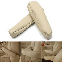 Пара PU Кожаный подлокотник для отдыха Обивка для Honda Odyssey 2005-2010, фото 3