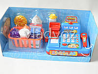 Игрушка детская касса игрушечная набор магазин игровая с сканером красная Cash Register
