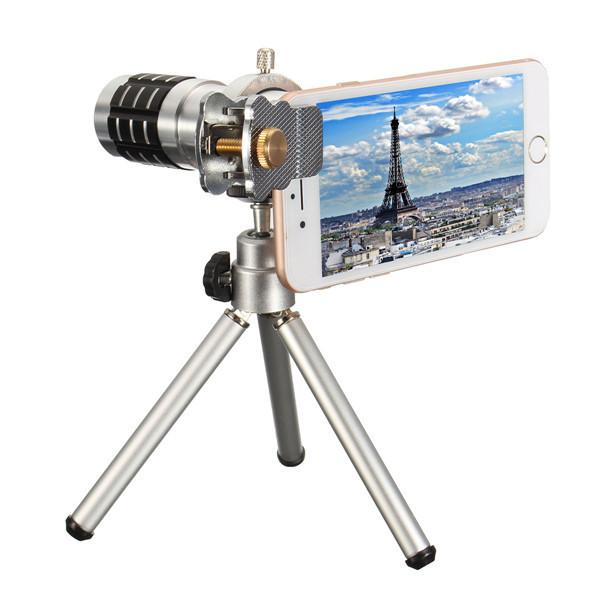 Универсальный HD металл телефото объектив телескопа+металл держатель линзы+штатив для смартфонов 12X orsda - ➊TopShop ➠ Товары из Китая с бесплатной доставкой в Украину! в Днепре